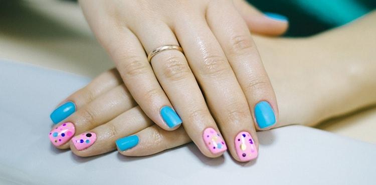 прекрасный вариант для летнего дизайна ногтей.