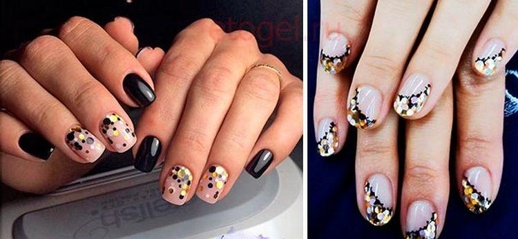 Дизайн ногтей шеллаком с камифубиками тоже пользуется популярностью.