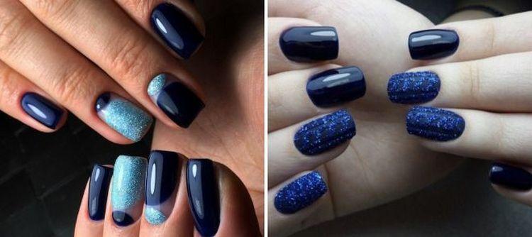 Посмотрите еще фото дизайна ногтей в синих тонах.