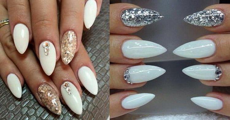 Посмотрите также свадебный дизайн острых ногтей.