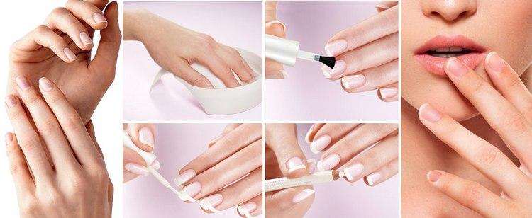 Даже на острые ногти можно сделать красивый френч в домашних условиях.