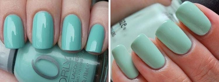 Красивый гель-лак на короткие ногти.