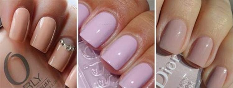 А вот еще фото коротких ногтей, покрытых гель-лаком.