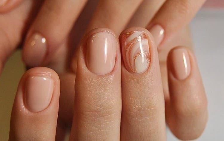 А вот фото рисунков гель-лаком на короткие ногти.