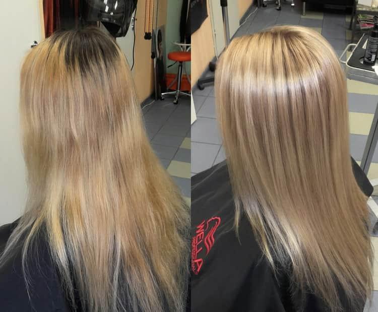 Брондирование на русые волосы: фото до и после