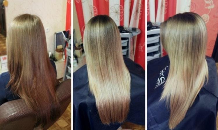На светлых волосах такая техника тоже получается удачно.