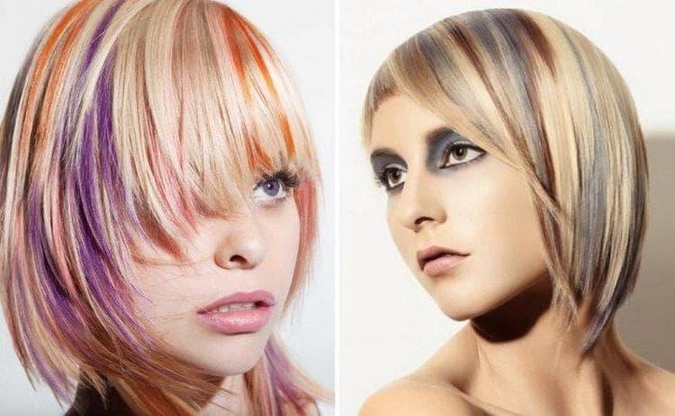 Посмотрите на фото варианты колорирования для светлых волос.