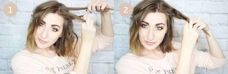 легкие прически на короткие волосы можно сделать своими руками в домашних условиях.