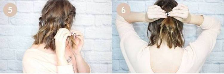Посмотрите, как сделать легкие прически самой себе на короткие волосы.