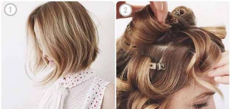 быстрые и легкие прически на короткие волосы можно сделать при помощи плойки.