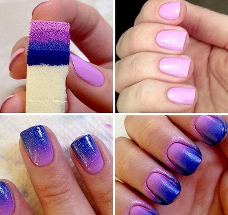 Один из самых легких дизайнов ногтей это градиент.