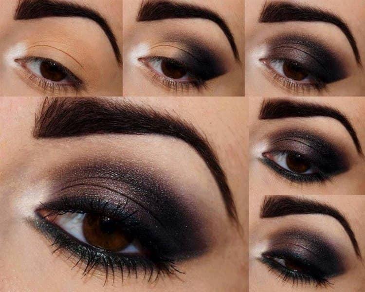 Идеальный темный макияж для темных глаз