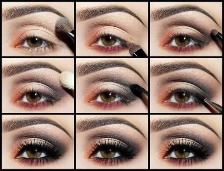 А вот еще один оригинальный вариант макияжа для темных глаз.
