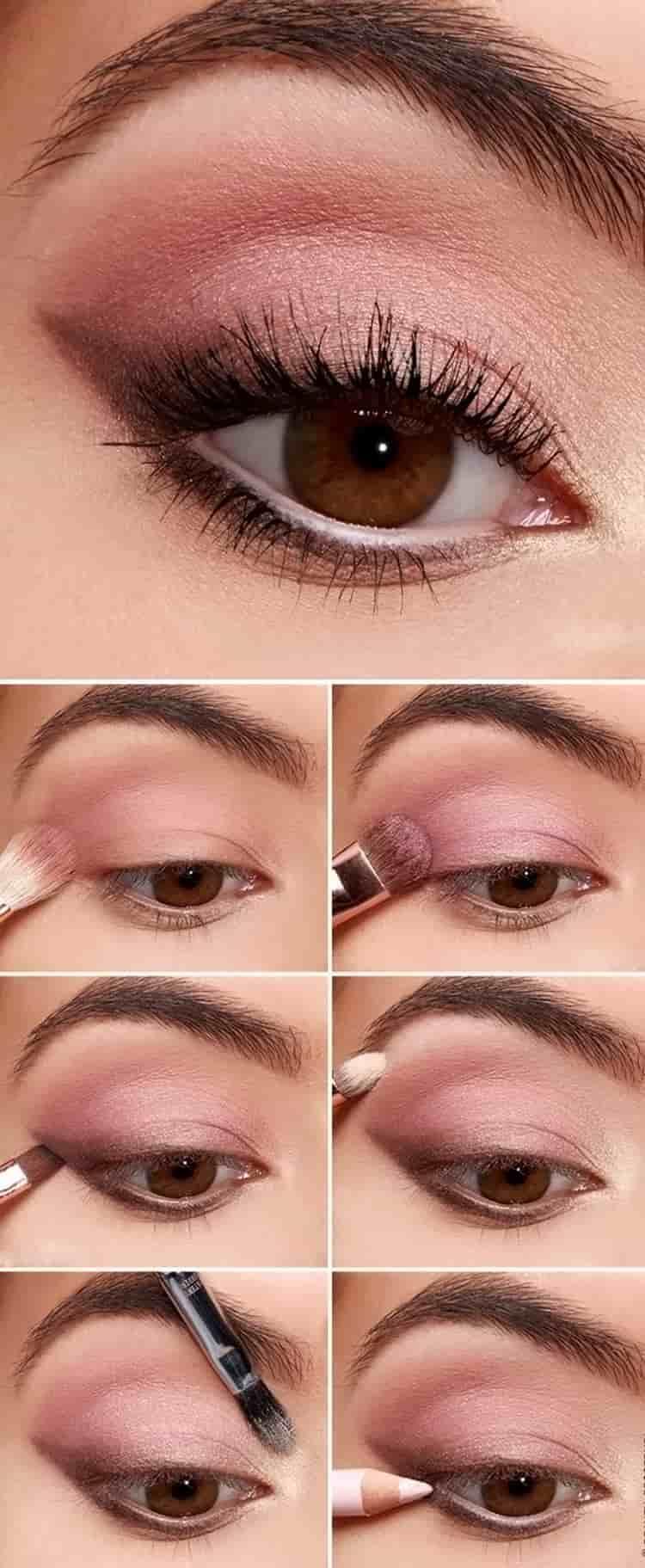 Отличным вариантом для легкого дневного макияжа станут розовые тени.