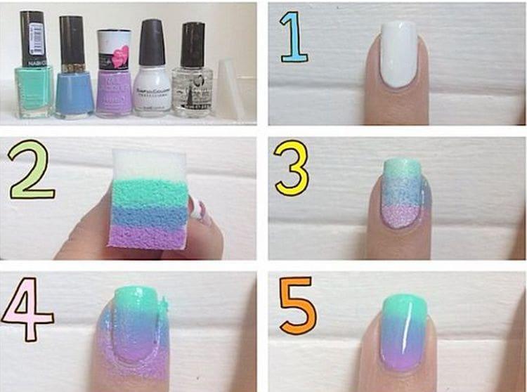 Посмотрите видео-уроки для начинающих о том, как сделать омбре на ногтях.
