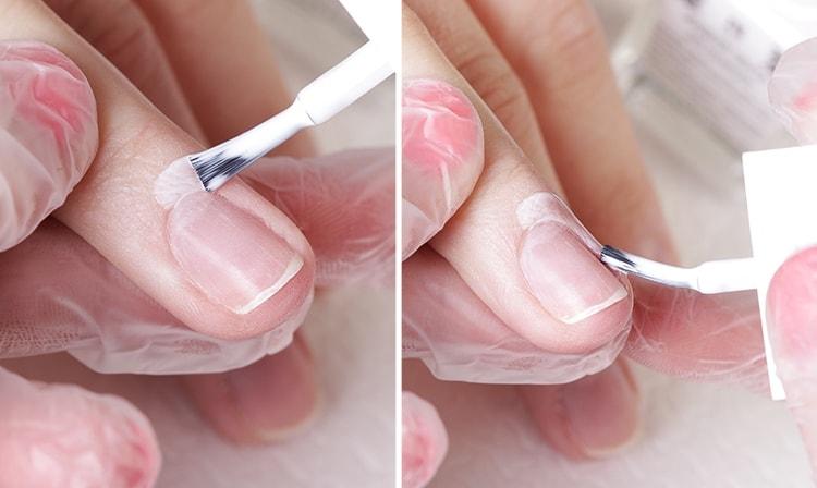 Посмотрите, как пользоваться жидкой лентой для маникюра.