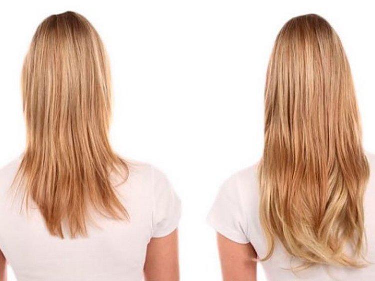 Как видно на фото, волосы значительно быстрее начали расти после применения маски.
