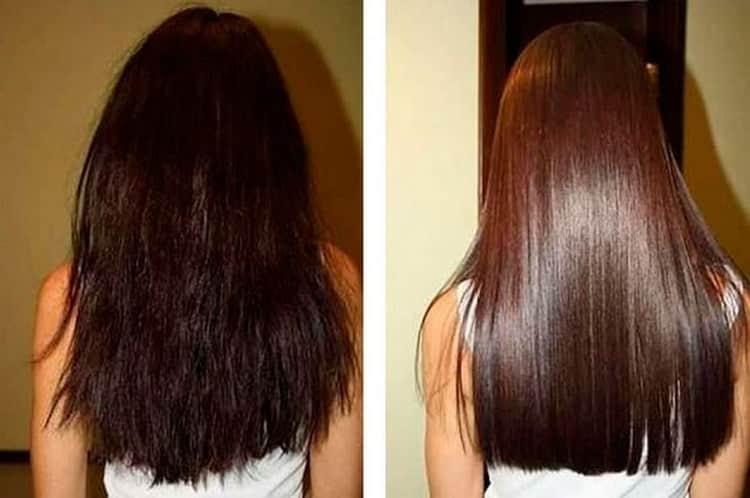 Волосы становятся более послушными, шелковистыми и блестящими.