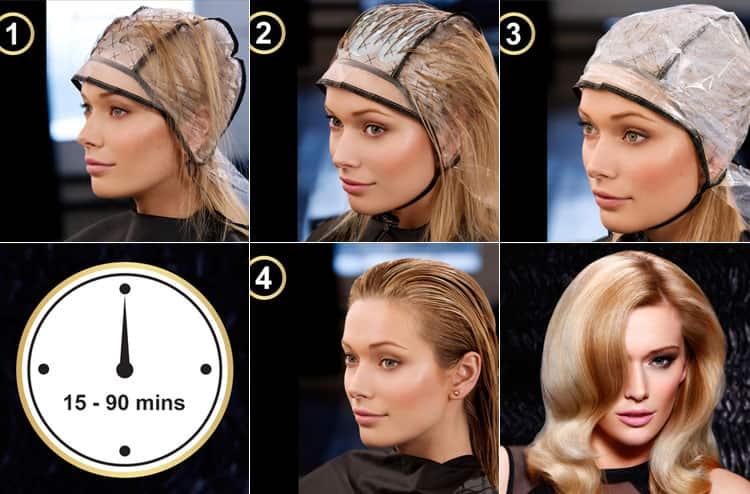 Посмотрите, как сделать мелирование через шапочку на длинные волосы.