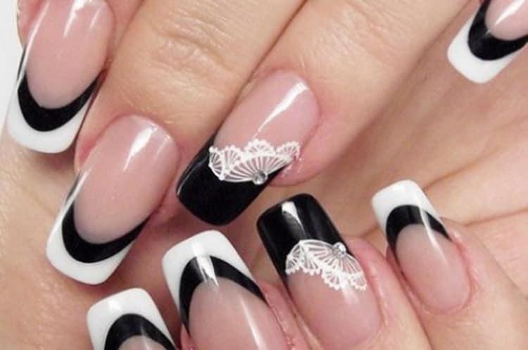 Как сделать белый френч на ногтях