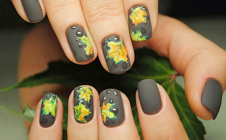 Стильный осенний дизайн ногтей.
