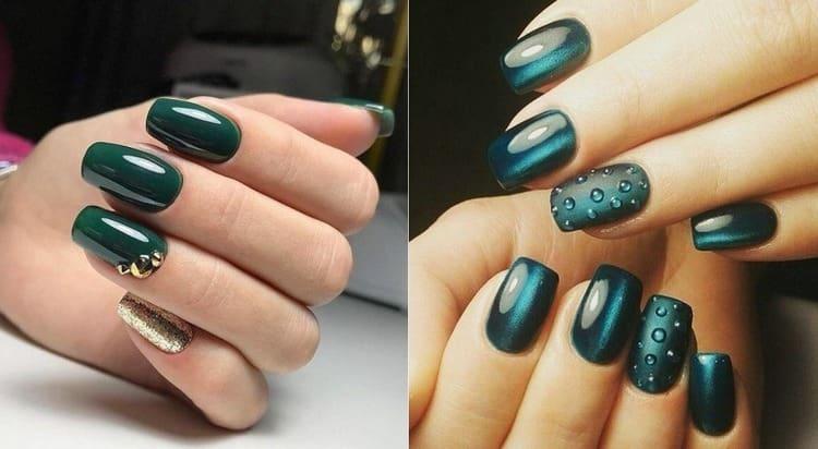 В моде также капли росы на ногтях.