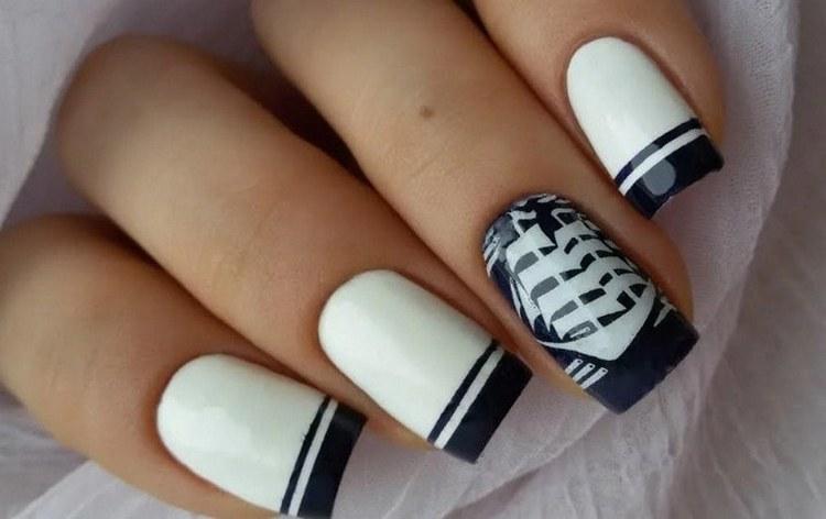 Посмотрите фото дизайна ногтей на морскую тематику.