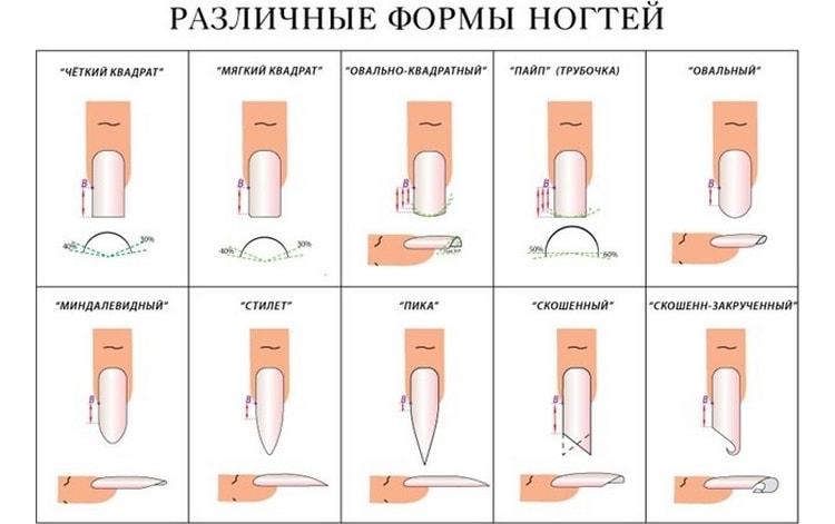 Посмотрите, какую форму можно придать типсам при наращивании.