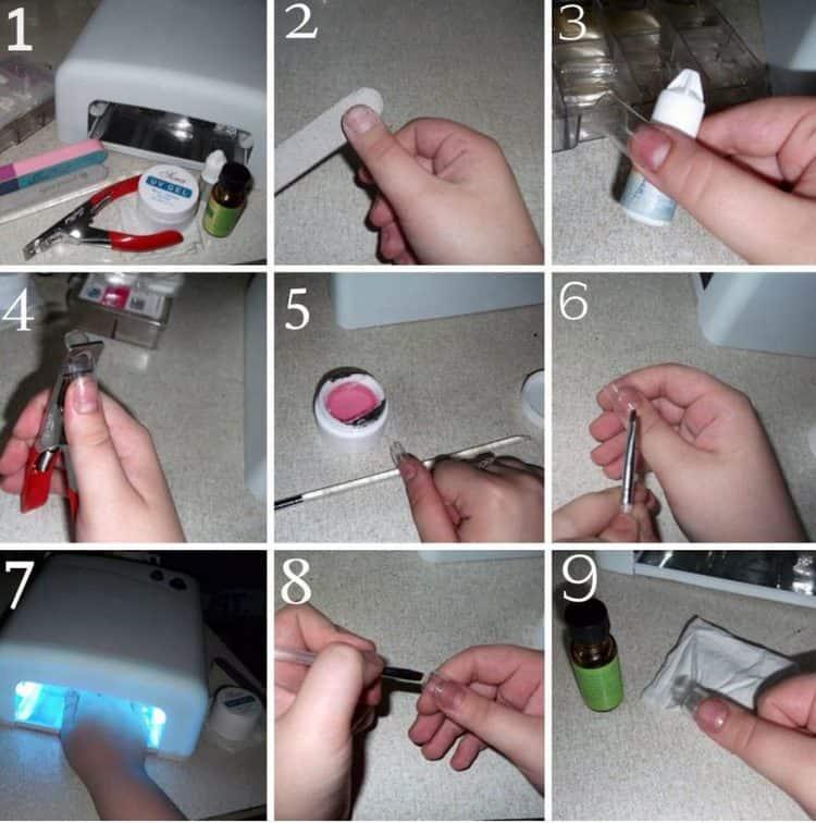 Посмотрите видео о наращивании ногтей трехфазным гелем.
