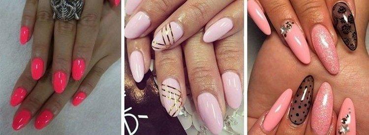Очень популярна также овальная форма ногтя.