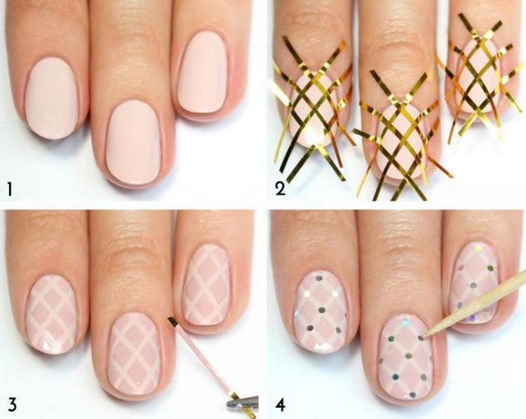 Посмотрите, как легко можно сделать такой нежный дизайн ногтей дома.
