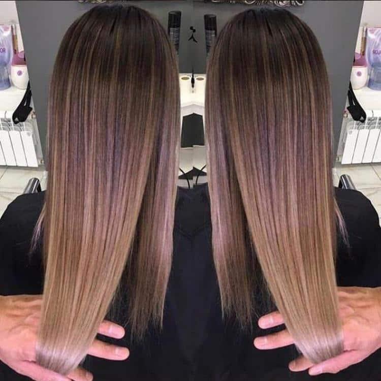 Посмотрите фото стильной покраски волос шатуш.