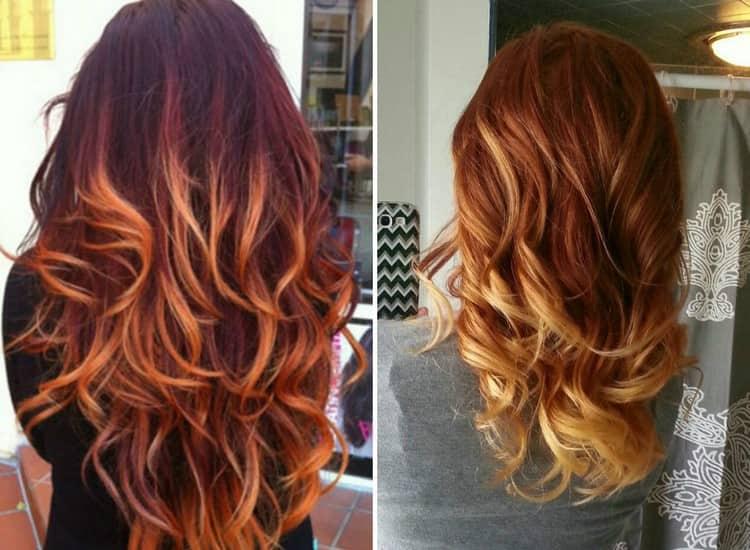 Посмотрите фото красивого окрашивания омбре на темные длинные волосы.