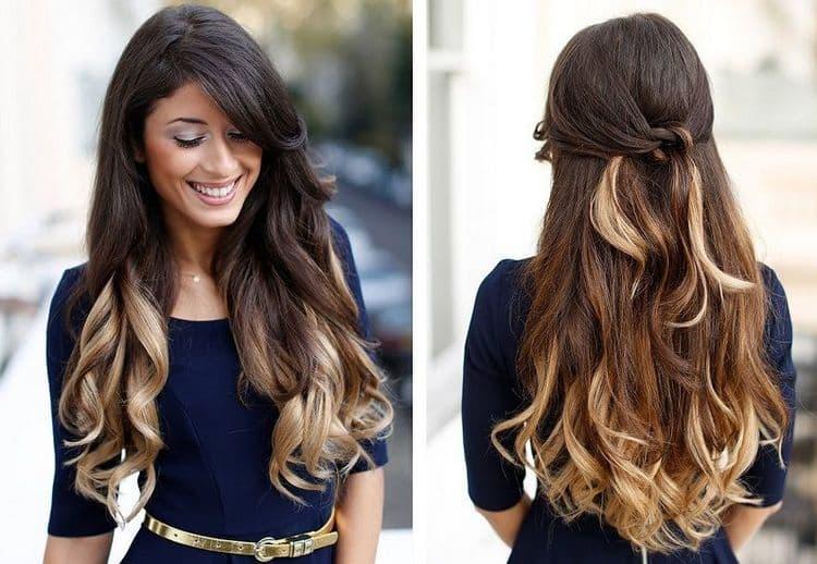 на длинных волосах омбре вообще выглядит роскошно.
