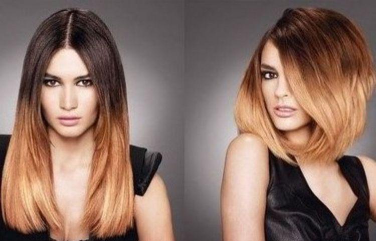 Посмотрите фото окрашивания волос омбре.