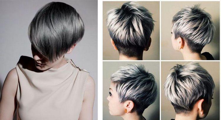 Посмотрите фото пепельного цвета волос с мелированием.