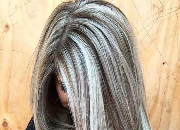 А вот фото пепельного блонда с мелированием.