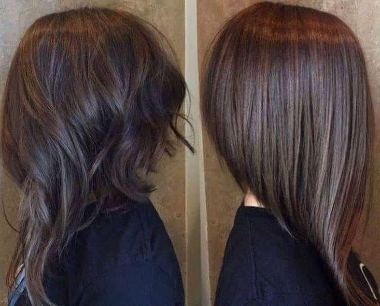 А вот на фото прическа боб каре на длинные волосы.