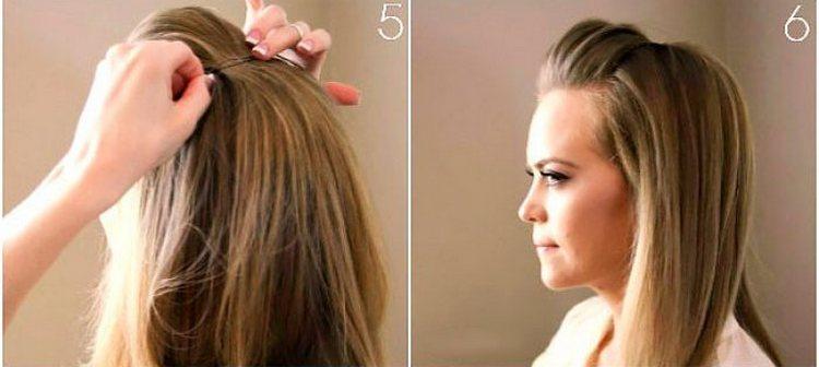 Посмотрите фото прически на длинные волосы с челкой.