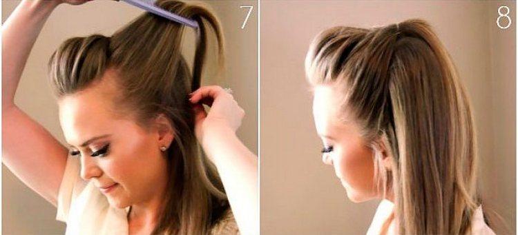 так у нас получается прическа на длинные волосы без челки.