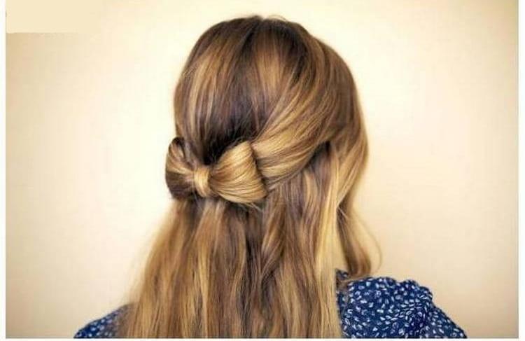 Модные прически в школу на длинные волосы можно сделать очень просто.