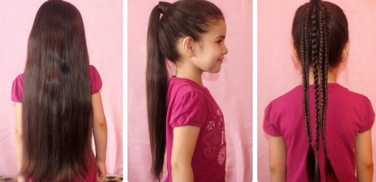 Детские прически в школу на длинные волосы можно сделать из косичек.