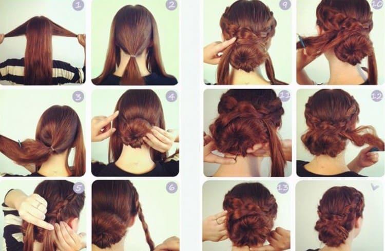А вот вариант красивой прически на свадьбу на волосы средней длины.