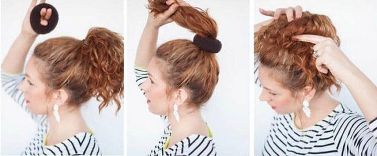 Отличный вариант красивой прически для девочек на средние волосы.