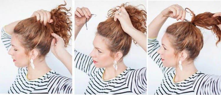А вот еще вариант красивой прически на волосы средней длины.