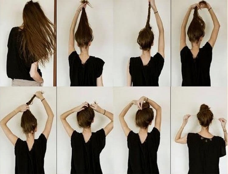 такие красивые прически на средние волосы можно делать в школу.