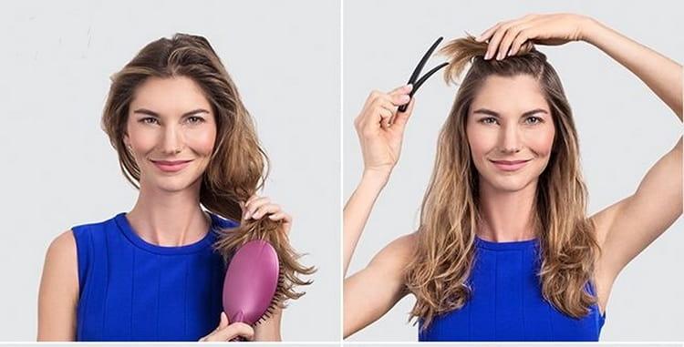 Посмотрите фото стильных причесок на выпускной на средние волосы.