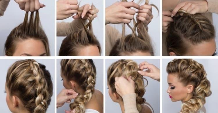 Посмотрите также видео о том, как сделать красивые прически на выпускной на средние волосы.