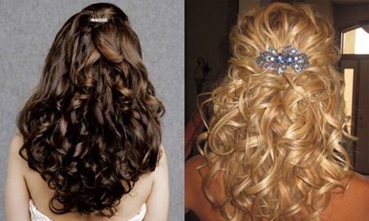 А вот вариант для распущенных волос.
