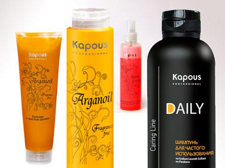 высоким качеством отличается профессиональная косметика для волос Капус.